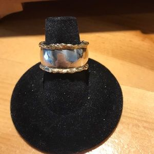 Jewelry - Sterling Silver with gold ring